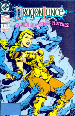 Cover to DC's Dragonlance issue number 3