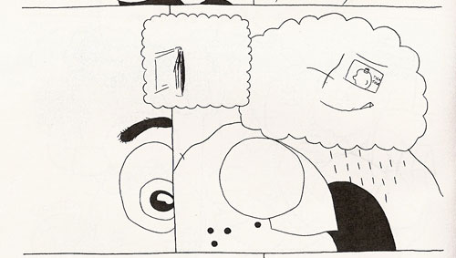 Out of context these panels are almost incomprehensible. Click to see the full page/context.