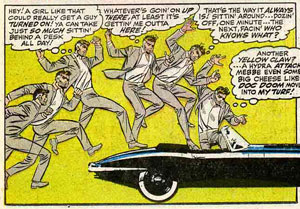 A panel from Strange Tales 168 by Jim Steranko