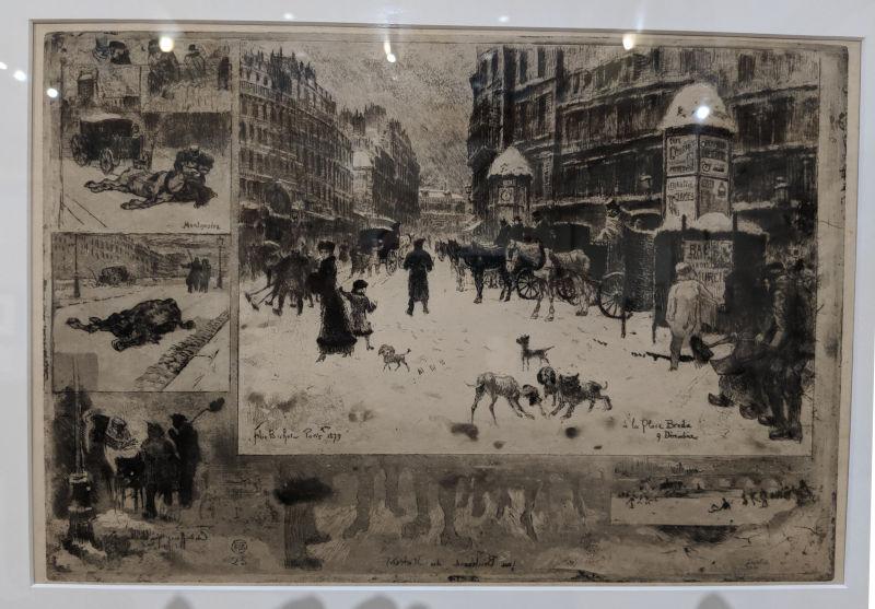 L'Hiver en Paris By Felix Buhot (1879)